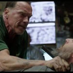 Arnie tackles Grinder or Neck or... who cares in Sabotage