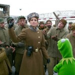 Tina Fey, Ray Liotta and Kermit in Muppets Most Wanted