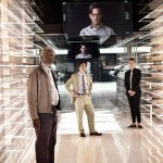 Morgan Freeman, Cillian Murphy and Rebecca Hall in Transcendence (oh and Depp there as well)