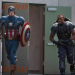 Captain America and Falcon (Anthony Mackie) in Captain America: The Winter Soldier