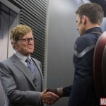 Robert Redford and Steve Rogers in Captain America: The Winter Soldier