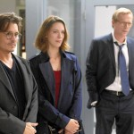 Depp, Hall and Bettany in Transcendence