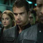 Shailene Woodley and Theo James look very serious in Divergent