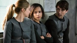 Shailene Woodley, Zoe Kravitz and Ben Lloyd Hughes as the Dauntless pals in Divergent