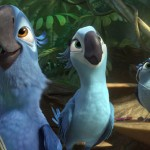 Blu (Jesse Eisenberg) and his family explore the Amazon in Rio 2
