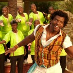 Terry Crews as the singer who has a song for everything (and everywhere) in Blended