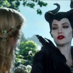 Elle Fanning and Angelina Jolie in Maleficent