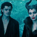Sam Riley and Angelina Jolie in Maleficent