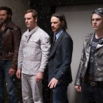 Jackman, Fassbender, McAvoy and Evan Peters in X-Men Days of Future Past