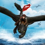 Toothless and Hiccup in How To Train Your Dragon 2