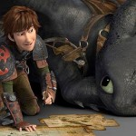 Hiccup and trusty Toothless in How To Train Your Dragon 2