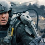 Tom Cruise on the battlefield where he doesn't belong (or does he?) in Edge of Tomorrow.