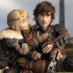 Astrid (America Ferrera) and Hiccup (Jay Baruchel) in How To Train Your Dragon 2