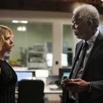 Scarlett Johansson and Morgan Freeman in Lucy