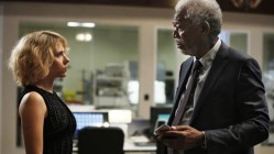 Scarlett Johansson and Morgan Freeman in Lucy