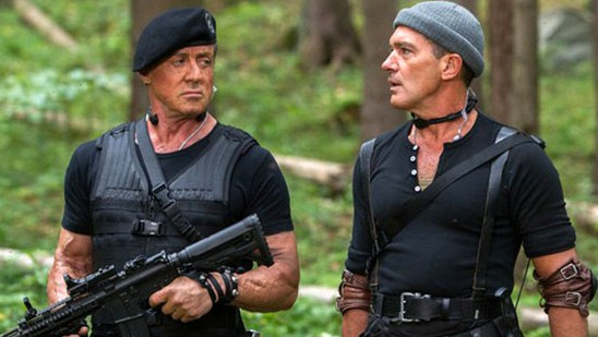 Sylvester Stallone and Antonio Banderas in The Expendables 3