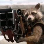 Rocket (voice of Bradley Cooper) in Guardians of the Galaxy
