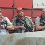 Sylvester Stallone, Jason Statham and Randy Couture in The Expendables 3