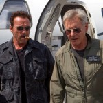 Arnold Schwarzenegger and Harrison Ford in The Expendables 3