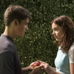 Brenton Thwaites and Odeya Rush in The Giver