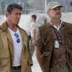Sylvester Stallone and Kelsey Grammer in The Expendables 3