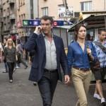 Pierce Brosnan and Olga Kurylenko in The November Man