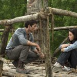 Dylan O'Brien and Kaya Scodelario in The Maze Runner