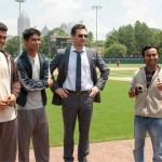 Madhur Mittal, Suraj Sharma, Jon Hamm and Pitobash in Million Dollar Arm