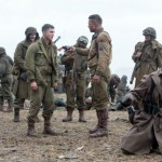Brad Pitt and Logan Lerman in Fury