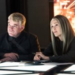 Philip Seymore Hoffman and Julianne Moore in The Hunger Games: Mockingjay Part 1