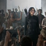 Jennifer Lawrence as Katniss Everdeen in The Hunger Games: Mockingjay Part 1