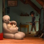 Baymax and Hiro (and Mochi the cat) in Big Hero 6