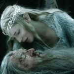 Cate Blanchett and Ian McKellan in The Hobbit: The Battle of the Five Armies