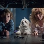 Noah Wiseman, their doggie and Essie Davis in The Babadook