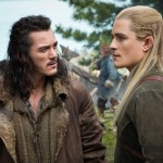 Luke Evans and Orlando Bloom in The Hobbit: The Battle of the Five Armies