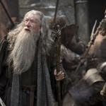 Ian McKellan and Luke Evans in The Hobbit: The Battle of the Five Armies