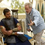 Christian Bale being directed by Ridley Scott in Exodus: Gods and Kings