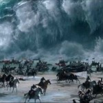 The Red Sea parts with CGI in Exodus: Gods and Kings