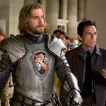 Dan Stevens as Sir Lancelot and Ben Stiller in Night At The Museum: Secret of the Tomb