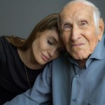 Angelina Jolie with real life Louis Zamperini (Unbroken)