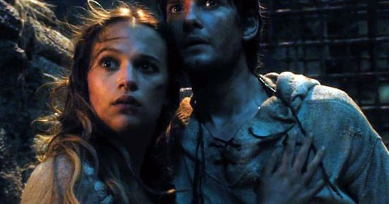 Alicia Vikander and Ben Barnes in Seventh Son