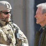 Bradley Cooper and director Clint Eastwood on the sets of American Sniper