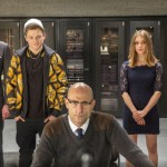 Colin Firth, Taron Egerton, Mark Strong, Sophie Cookson in Kingsman: The Secret Service