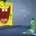SpongeBob and Plankton in The SpongeBob Movie: Sponge Out Of Water