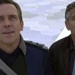 Hugh Laurie and George Clooney in Tomorrowland