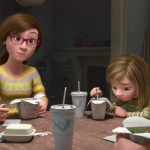 The family's emotions on the table in Inside Out