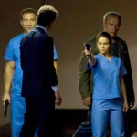 Jai Courtney, Arnold Schwarzenegger, Emilia Clarke and Jason Clarke in Terminator: Genisys