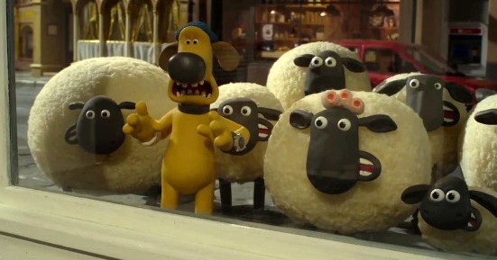 A scene from Shaun The Sheep Movie