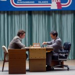 Liev Schreiber and Tobey Maguire in Pawn Sacrifice