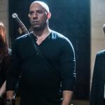 Rose Leslie, Vin Diesel and Elijah Wood in The Last Witch Hunter